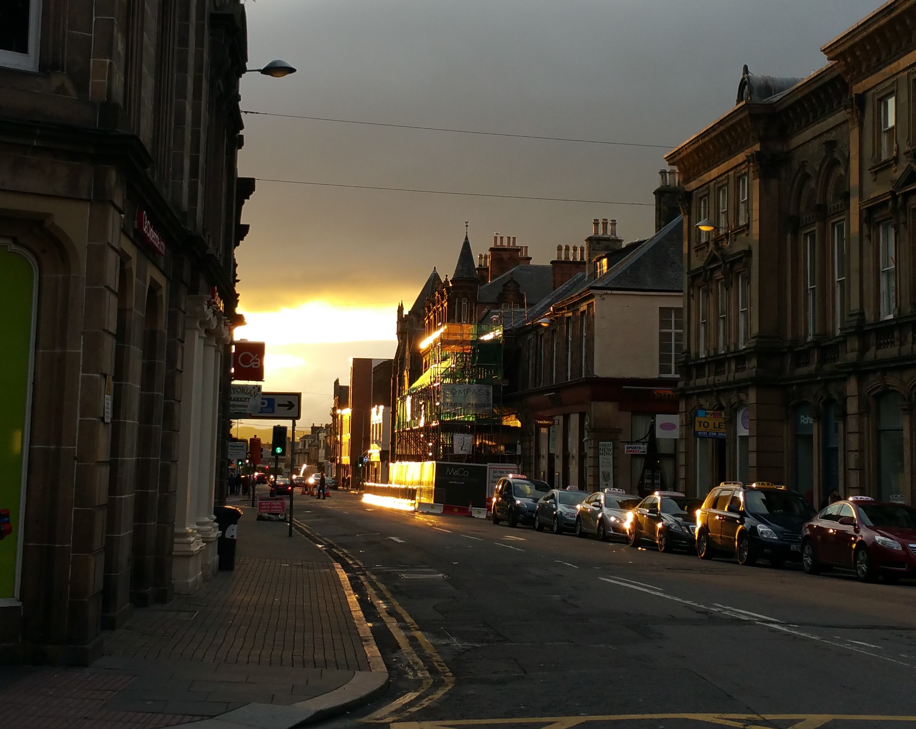 """Sunset in Inverness"""